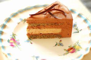 アールグレイとチョコレートのムースケーキ8