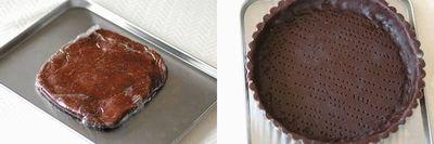 フランボワーズとチョコレートのタルト