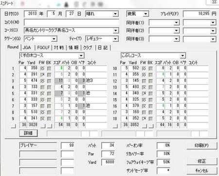 j真名コーススコア20130527