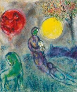 chagall LE VIOLONISTE SOUS LA LUNE