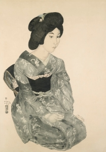 foujita JEUNE FEMME JAPONAISE EN KIMONO