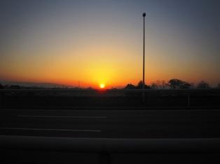 長良川の夕日