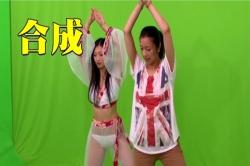 踊りの合成シーンの練習