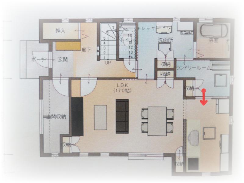 憧れのクローゼットルームとシューズクロークのあるお家:入居前web内覧会。ランドリールーム。