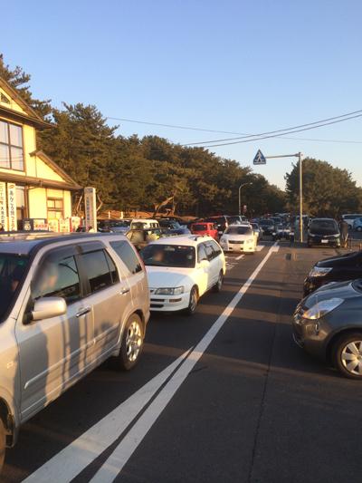 初日の出渋滞。