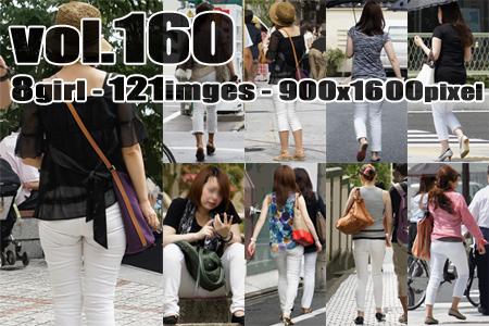 vol160-ピチピチ食い込み白パンお姉さん