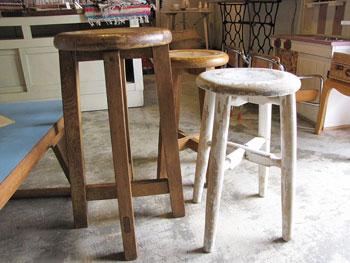 ナチュラルインテリア 木製スツール 丸椅子