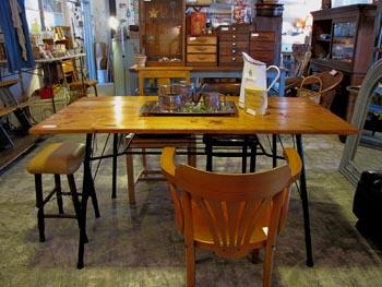リメイク家具 リデザイン スチール脚ダイニングテーブル