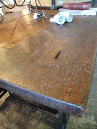 SNGERミシン脚X古材天板のディスプレイテーブルW180