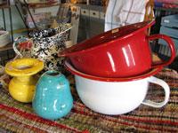ホーローなべ 陶器壷