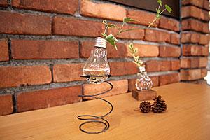 Recca 電球のフラワーベース