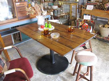 テーブル セミオーダー 鉄脚 カフェテーブル