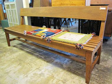 ベンチ 木製 長い ナチュラル 中古 家具