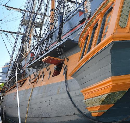 HMS Surprise Qter to port view