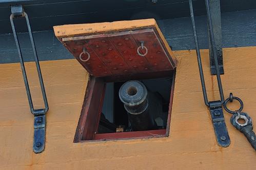 HMS Surprise Gun Port