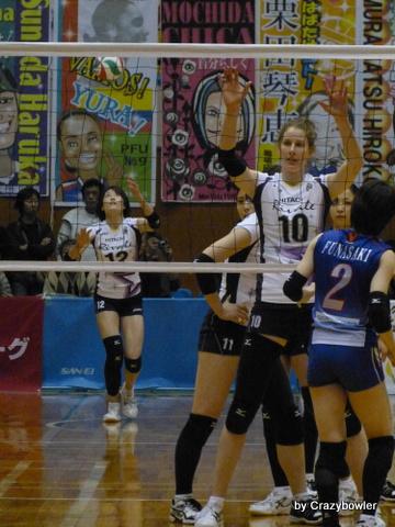 女子Vチャレンジリーグ2012/13最終戦 日立vsPFU