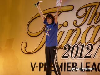 Vプレミアリーグ女子2012/13 表彰式 最優秀監督賞