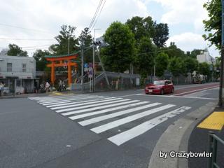 早稲田通り 穴八幡宮