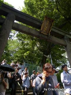 筑土八幡神社 石造鳥居