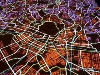 道路 東京の微地形模型 TOPOGRAPHY MODEL TOKYO