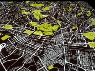 緑地 東京の微地形模型 TOPOGRAPHY MODEL TOKYO