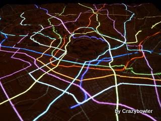 地下鉄 東京の微地形模型 TOPOGRAPHY MODEL TOKYO