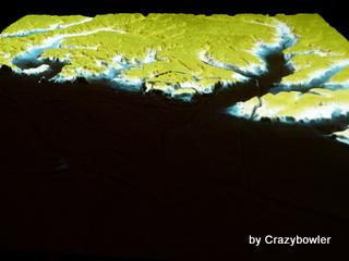 海水30m上昇 東京の微地形模型 TOPOGRAPHY MODEL TOKYO