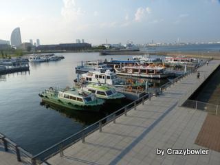 水上バス、湾内遊覧船の発着場「ピア象の鼻」