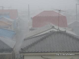 東京都足立区 ゲリラ豪雨