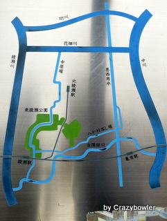 足立区 用水路と掘 案内板