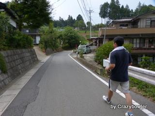 境川(山梨県、神奈川県)沿いの道