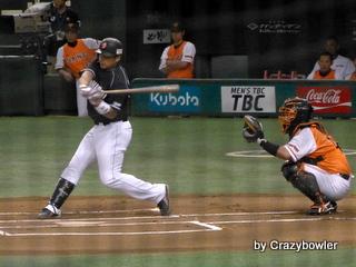 東京ドーム8月15日 巨人vs中日 森野先制本塁打