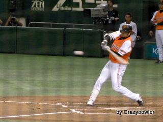 東京ドーム8月15日 巨人vs中日 高橋本塁打