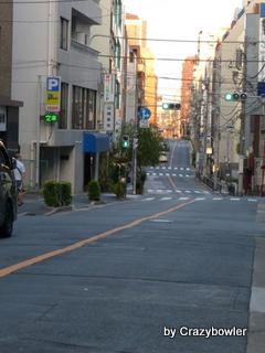 湯島2丁目 三組坂方面を見る