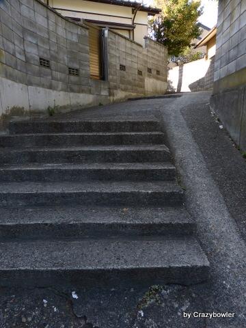 新潟市 新潟神宮横の階段