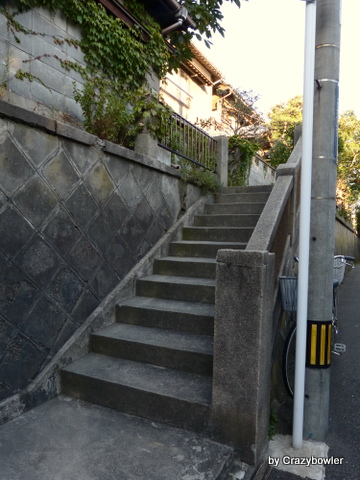 新潟市 田中町の珍しい路地