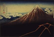 富岳三十六景赤富士