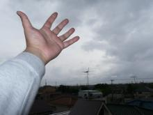 Hand toward the Sky