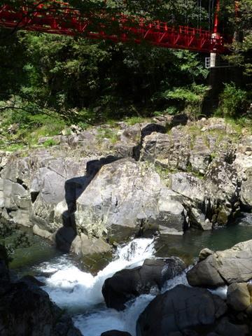 生涯学習!by Crazybowler-長門峡 紅葉橋と第一断魚瀑