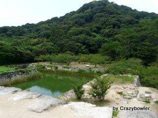 生涯学習!by Crazybowler-天守跡から指月山を眺める 萩城跡