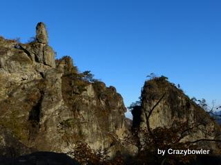 生涯学習!by Crazybowler-妙義山 金鶏山と筆頭岩 第四席門からの風景