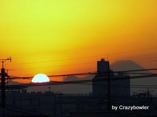 生涯学習!by Crazybowler-2012年12月22日の夕日(足立区)