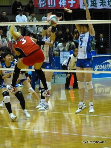 $生涯学習!by Crazybowler-Vプレミアリーグ2012/13女子 岡山vsNEC 所沢