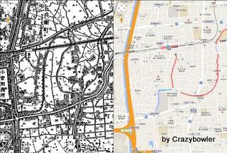 古隅田川 1944-1954年と現代