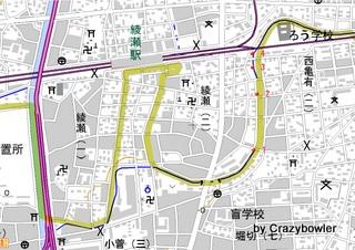 古隅田川 綾瀬駅付近