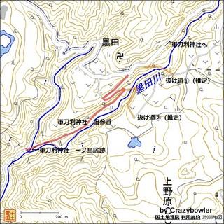 軍刀利神社 旧参道