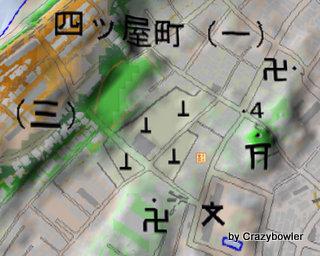 新潟市 日和山墓地と湊小グラウンド