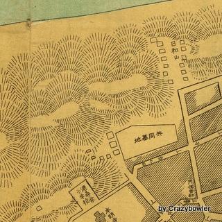 新潟市 日和山墓地と湊小グラウンド(明治45年)