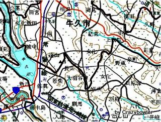 牛久市地図