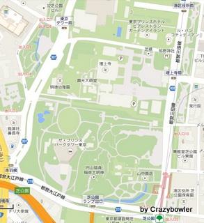 増上寺付近